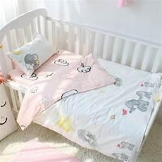 3pcs set cotton baby bedding set elephant pattern