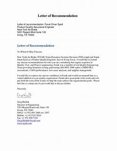 Letter Of Recommendation It Technician Letters Of Recommendation Faruk