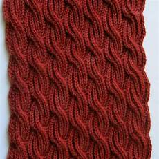 items similar to knit scarf pattern brioche cabled