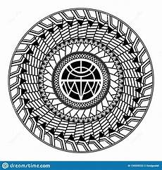 Polynesian Design Circle Maori Style Ornament Cartoon Vector Cartoondealer Com