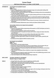 Database Management Resume Database Management Resume Samples Velvet Jobs