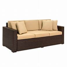 Brown Wicker Sofa 3d Image by Best Choice Products 3 Seat Outdoor Wicker Sofa