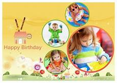 collage birthday card template birthday card templates addon pack free