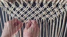 how to do macrame knots forming a v with square knots
