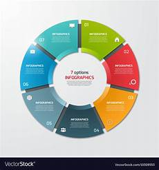 Pie Chart Generator Free Pie Chart Infographic Template 7 Options Vector Image
