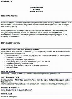 It Cv It Trainee Cv Example Icover Org Uk