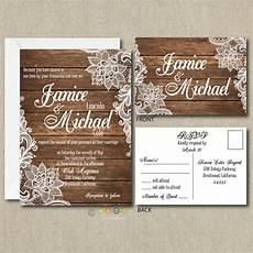 Rustic Country Wedding Invitations 100 Personalized Country Rustic Lace Wedding Invitations