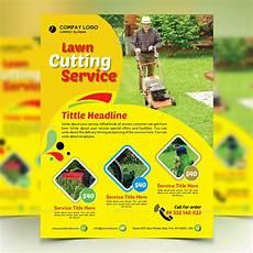 Lawn Mower Flyers Gardener Mowing Lawn Mower Flyer By Design Station