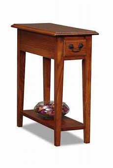 narrow accent tables leick chairside small end table medium finish