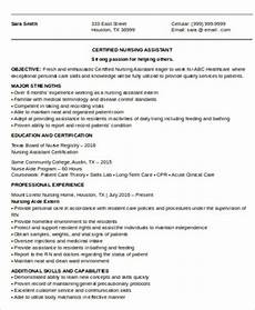 Objectives For Cna Resumes Cna Resume Objective 6 Examples In Word Pdf