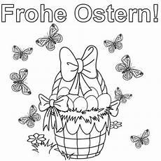 Schule Und Familie Ausmalbilder Ostern Kostenlose Malvorlage Ostern Osterkorb Mit