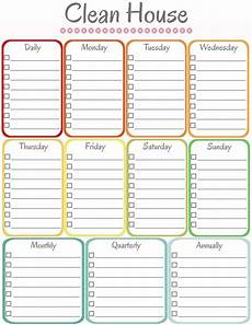 Cleaning House Schedule Chart Daily Weekly Monthly Cleaning Schedule Template