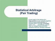 Statistical Arbitrage Statistical Arbitrage