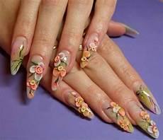 Acrylic Nails With Flower Design 50 Most Stylish Acrylic Nail Art Design Ideas