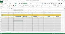 Action Item Template Excel Action Items Excel Templates