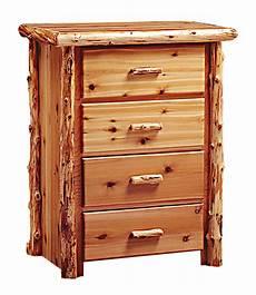 timberland cedar log 4 drawer dresser rustic furniture