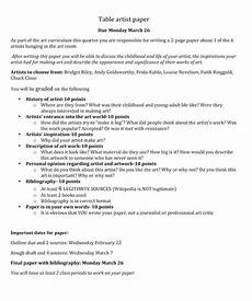 Artist Essay Examples History Essay Examples Table Of Contents