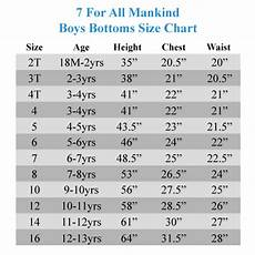 Boys Age Size Chart 7 For All Mankind Kids Standard Jeans In Vaporous Little
