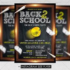 Back To School Flyer Templates Back To School Party Premium A5 Flyer Template