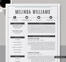 Resume Samples Modern 2020 Microsoft Word Resume Template Cv Template Curriculum