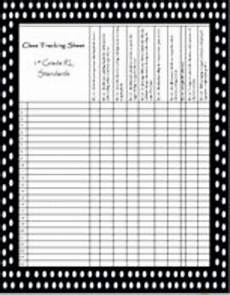 Grade Tracking Sheet Class Tracking Sheet And Rubric For 1st Grade Rl Standards