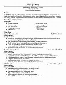 Auto Resume Maker Best Retail Parts Pro Resume Example Livecareer
