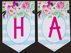 Printable Happy Birthday Banner Free Printable Birthday Banner Six Clever Sisters