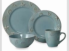 16 Pc Dinnerware Set Thomson blue Pottery Cape Cod