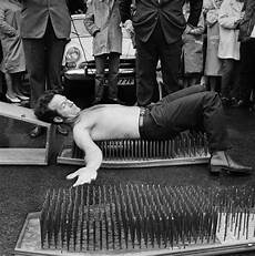 lying on a bed of nails was once all the rage