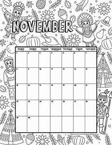November 2020 Calendar For Kids November 2020 Coloring Calendar Woo Jr Kids Activities