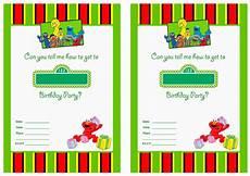Blank Birthday Invitation Templates Free Printable Sesame Street 1st Birthday Invitations