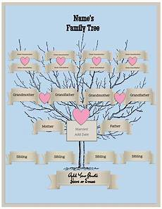Family Tree Pics Template 4 Generation Family Tree Template Free To Customize Amp Print