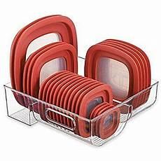 mdesign food storage lid organizer for kitchen