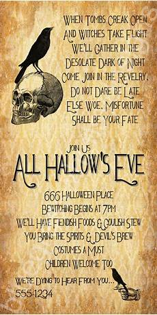 Free Printable Halloween Party Invitations For Adults All Hallow S Halloween Party Invitation 4x8 5x7 4x6