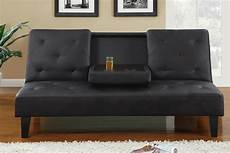 Leather Futon Sofa 3d Image by Black Leather Button Tufted Style Adjustable Futon Sofa Bed