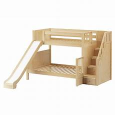medium bunk bed with stairs slide bunk