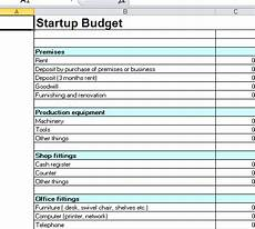 Start Up Cost For Business Startup Budget Template Excel