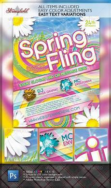 Spring Event Flyer Template Spring Fling Dance Flyer Template Graphicriver