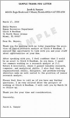 Thank You Letter After Job Fair Sample Thank You Letter Lettering Thank You Letter