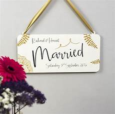 Calligraphy Sign Personalised Calligraphy Botanical Married Sign By