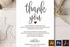 Wedding Thank You Card Examples Wedding Thank You Note Printable Thank You Card Template