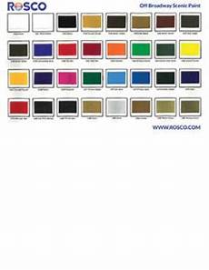 Rosco Color Chart Off Broadway Rosco