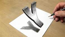 Drawing 3d How To Draw Floating Letter Y Drawing 3d Trick Art With