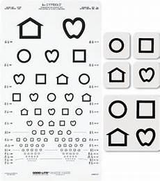 Eye Test Chart For Toddlers Lea Symbols Proportional Distance Chart By Good Lite Co