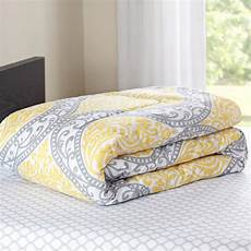 mainstays yellow damask coordinated bedding set bed in a