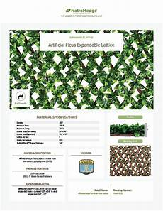 Alterations By Carla Willow Designs Expandable Faux Ficus Trellis Privacy Fence Ficus