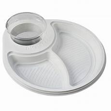 piatti e bicchieri di plastica per feste 30 piatti deluxe biscomparto bianchi diglass il piatto
