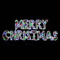 Rope Light Christmas Signs White Rope Light Merry Christmas Sign With Multi Coloured