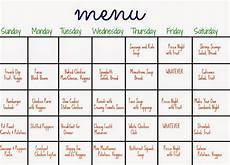 How To Meal Plan For A Month 31 Days Of Dinners A Menu Plan For The Whole Month The
