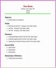 Create A Simple Resume Basic Chronological Resume Template Open Resume Templates